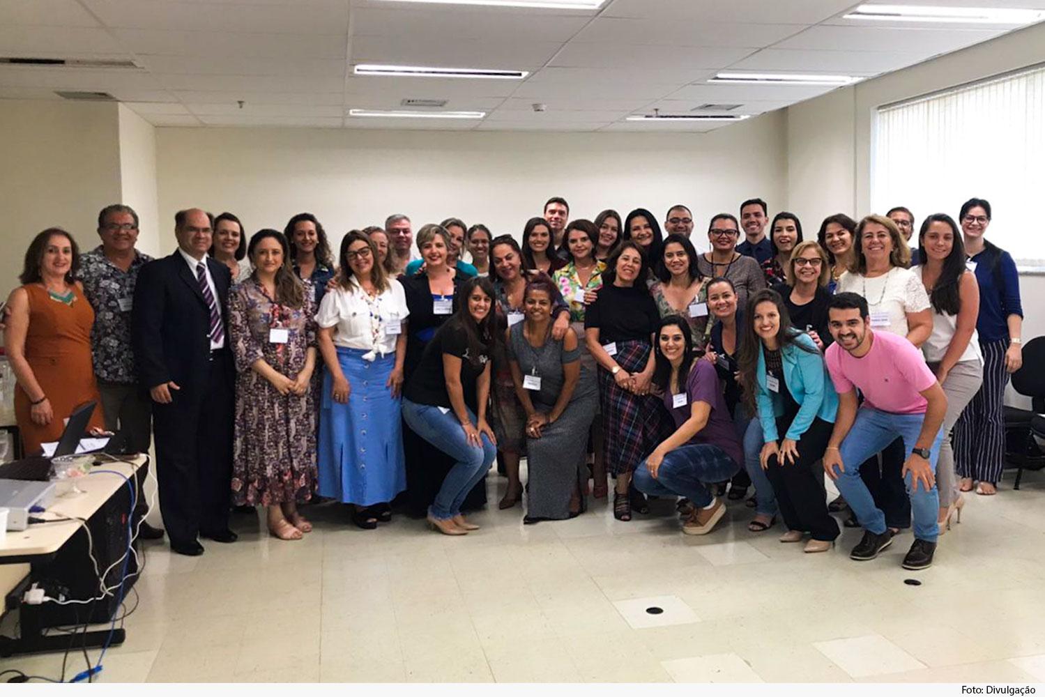 Grupo de participantes do curso