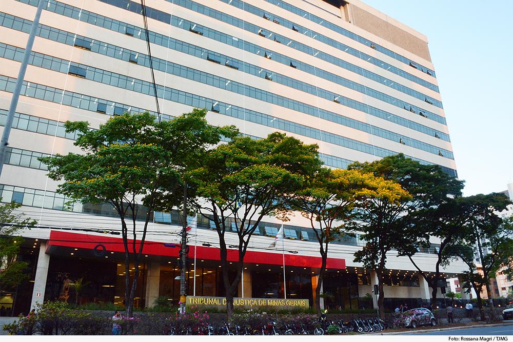 Imagem da fachada da sede do Tribunal de Justiça de Minas Gerais
