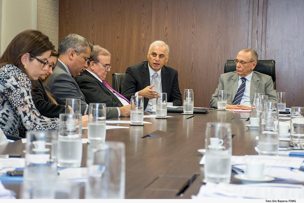 Grupo no Gabinete da Presidência