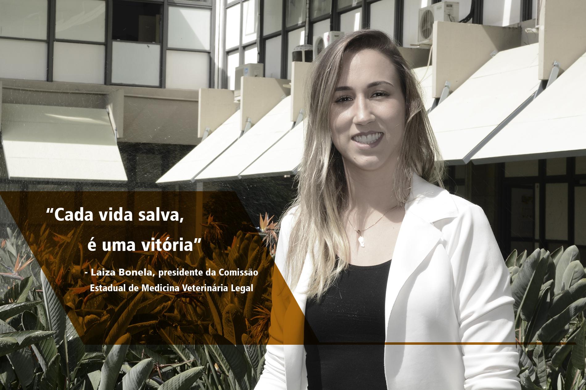 Laiza Bonela, presidente do Conselho  Regional de Medicina Veterinária Legal