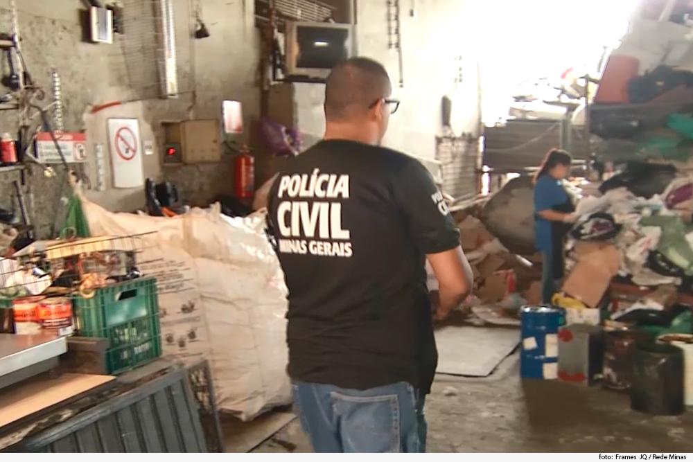 Polícia Civil faz ações de combate à receptação de fios de cobre furtados em BH